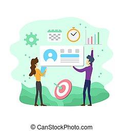 Flat Modern Social Media Marketing Illustration