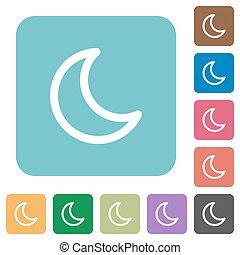 Flat moon icons