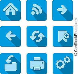 flat navigation icon set