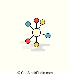 Flat network  Icon. Vector