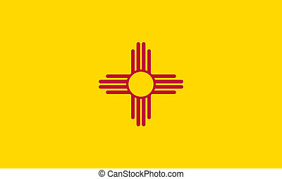flat new mexico state flag - usa