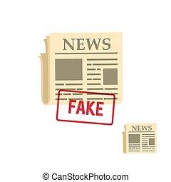 flat newspaper icon