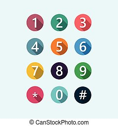 Flat numbers color