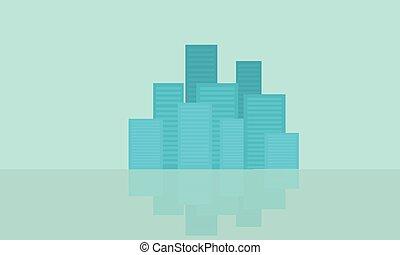 Flat of city design vector illustration
