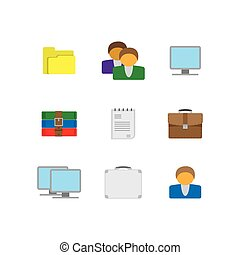 Flat office icons