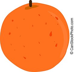 Flat orange, illustration, vector on white background.