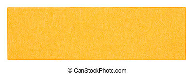 Flat orange rectangular sticky note