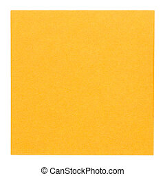 Flat orange square sticky note