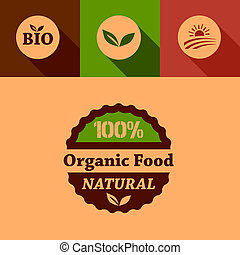 flat organic food design elements