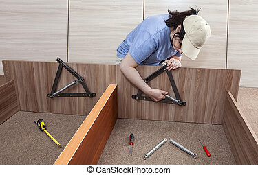 Flat Pack furniture assembly and installation service, women...