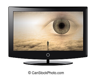 Flat Panel with surreal image