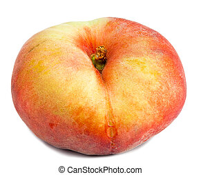 flat peach on a white background