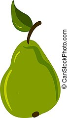 Flat pear, illustration, vector on white background.