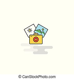 Flat Photography Icon. Vector