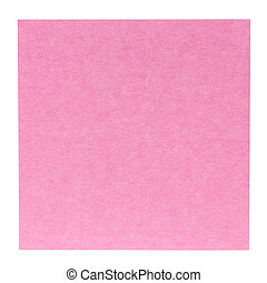 Flat pink square sticky note