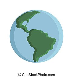 Flat planet Earth icon
