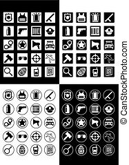 Flat Police And Justice Icons Set