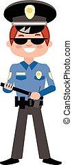flat police officer