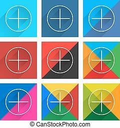 Flat popular social network web square icon