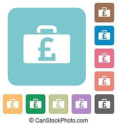 Flat Pound bag icons