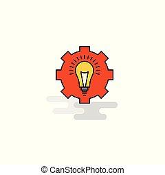 Flat Power setting Icon. Vector