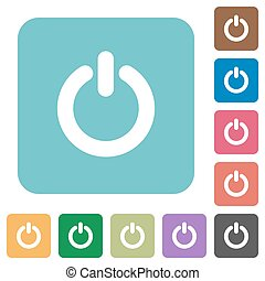 Flat power switch icons