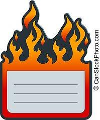 Fire label