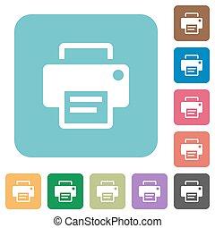 Flat printer icons