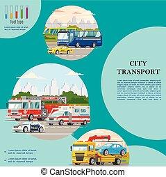 Flat Public City Transport Concept