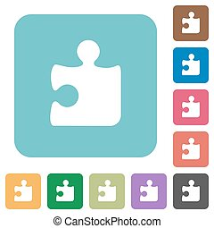 Flat puzzle piece icons