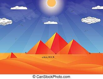 flat pyramid ilustration