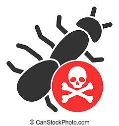 Flat Raster Pesticide Icon