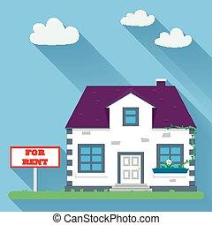 Flat real estate rental
