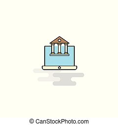 Flat Real estate website Icon. Vector