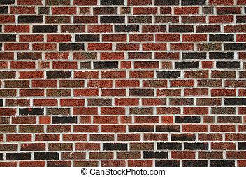 brick wall - flat red brick wall background