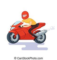 Flat Red Sport Bike Concept - Flat red sport bike concept...