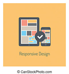 Flat responsive design illustration - Flat design modern...