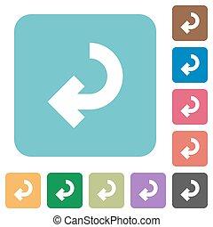 Flat return arrow icons