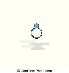 Flat Ring Icon. Vector