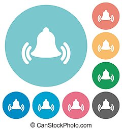 Flat ringing bell icons