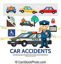 Flat Road Accident Template