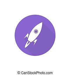 Spacecraft sign illustration
