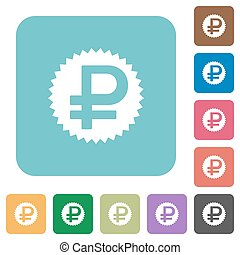 Flat ruble sticker icons