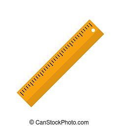 Flat Ruler icon. Isolated rule icon for your web design. Vector Illustration EPS10
