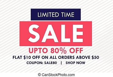 flat sale banner design with offer details