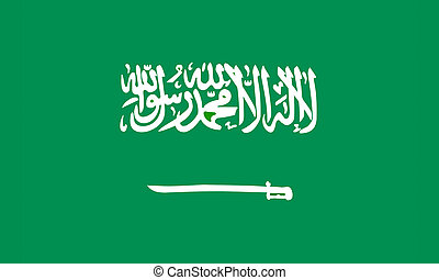 flat saudi arabian flag