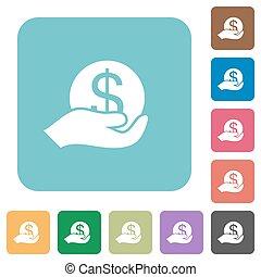 Flat save money icons