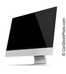 Flat screen computer monitor.