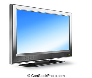 Flat screen plasma tv - Flat screen plasma LCD TV monitor on...