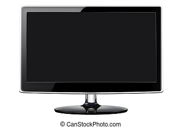Flat screen television - Modern flat screen television in a...